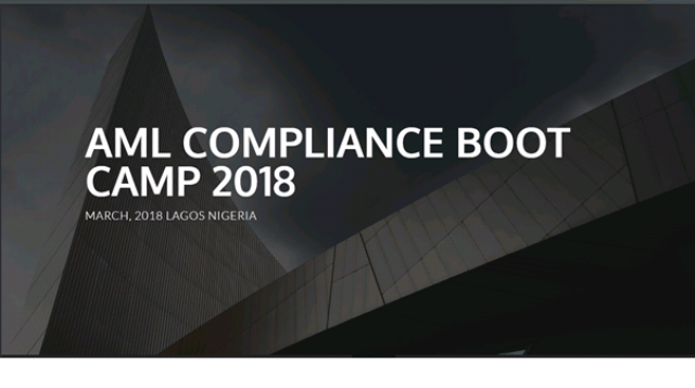 AML Compliance workshop