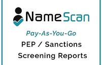 Namescan, pay as you go AML software